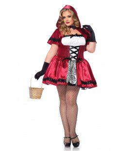 Gothic Roodkapje Sexy Jurk (Plus Size) Vrouw