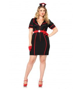 Sexy Zwarte Verpleegster Vrouw Kostuum