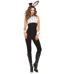 Smoking Bunny Babe Vrouw Kostuum