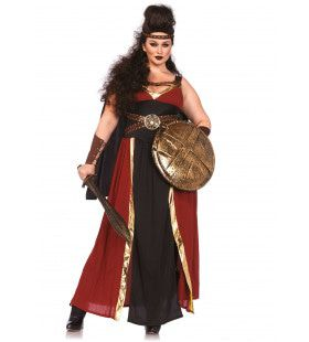 Spartaanse Strijdster Lang En Elegant (Plus Size) Vrouw Kostuum