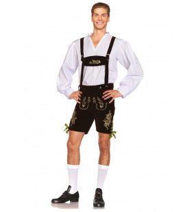 Traditionele Oktoberfest Lederhosen Herr Heinrich Man Kostuum