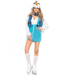 Vrouwelijke Sneeuwpop Kostuum