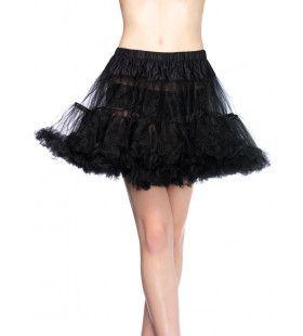 Basic Petticoat Met Twee Lagen Zwart (Plus Size)