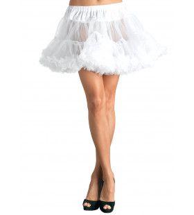 Basic Petticoat Met Twee Lagen Wit (Plus Size)