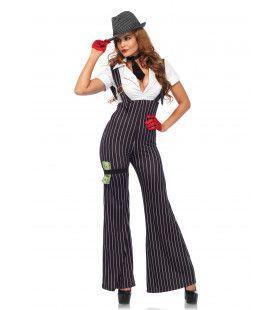 Sexy Gangster Meid Vrouw Kostuum