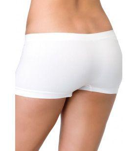 Naadloze Shorts Wit Vrouw