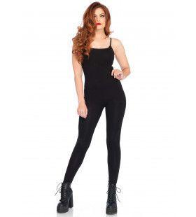 Elegante Zwarte Unitard Jumpsuit Vrouw Kostuum