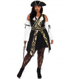 Zeeweelde Piraat Vrouw Kostuum
