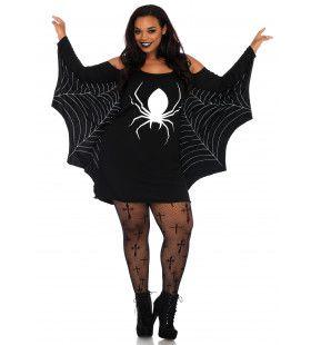 Spinnenweb Jurk Plus Size Vrouw