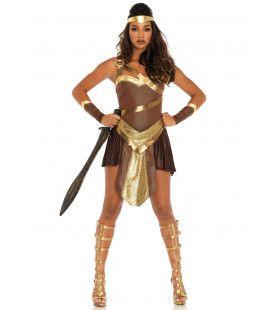 Onweerstaanbare Gladiator Vrouw Kostuum