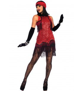 Extravagante Gatsby Girl Vrouw Kostuum