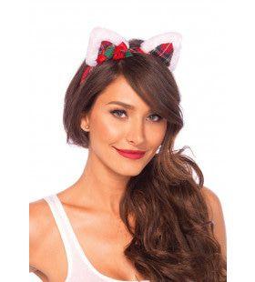 Haarband Met Katten Oortjes In Kerst Stijl