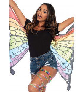 Vlinder Vleugels Met Regenboog Print