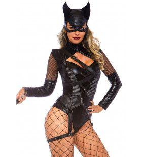 Villainess Vixen Catwoman Vrouw Kostuum