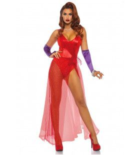 Jessica Rabbit Film Pin-Up Vrouw Kostuum