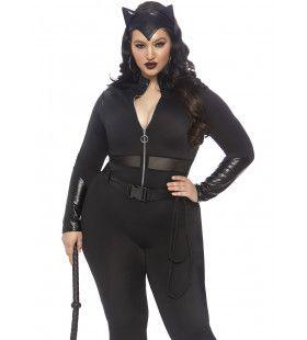 Katachtig Soepele Catwoman Plus Size Vrouw Kostuum