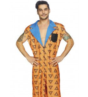 Bedrock Bro Fred Flintstone Man Kostuum