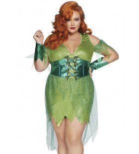 Gevaarlijk Giftige Poison Ivy Plus Size Vrouw Kostuum