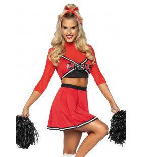 De Meest Populaire Highschool Cheerleader Vrouw Kostuum