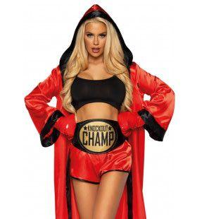 Miss Dynamite Boks Knock Out Kampioene Vrouw Kostuum