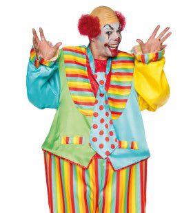 Zo Rond Als Een Circustent Clown Man Kostuum
