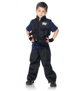 Stoere Jongen Swat Politie Kostuum
