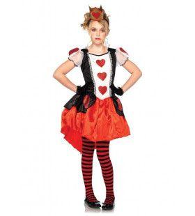 Tiener Wonderland Koningin Kostuum Meisje