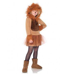 Schattige Leeuw Kostuum Meisje
