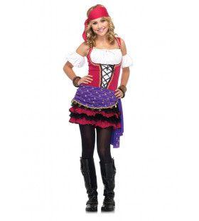 Tiener Zigeuner Waarzegster Jurk Meisje
