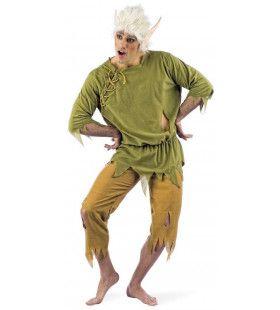 Puntoor Sprookjes Elf Groene Woud Man Kostuum