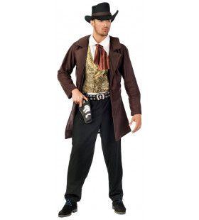 Cowboy Sundance Kid Bankrover Man Kostuum
