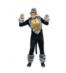 Zwart Chique Musical Cats Katten Man Kostuum