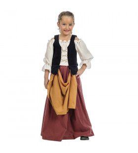 Middeleeuwse Boerinnetje Bregje Meisje Kostuum