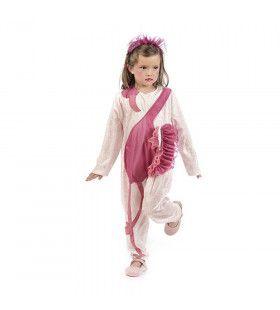 Fraaie Elegante Roze Flamingo Meisje Kostuum