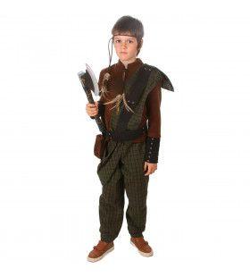 Woeste Middeleeuwse Wapenknecht Jongen Kostuum