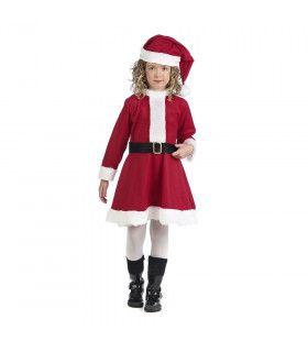 Warm Rood Kerstvrouw Meisje Kostuum