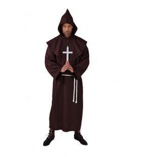 Semper Silentio Klooster Monnik Bruin Man Kostuum
