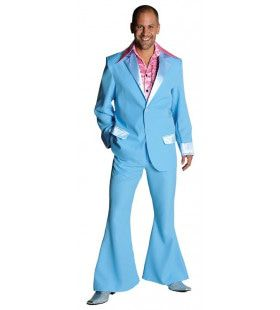 Lichtblauw Saturday Night Boogie Night Man Kostuum