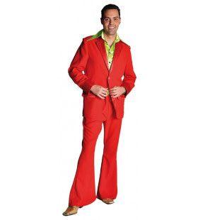 Rood Saturday Night Boogie Night Man Kostuum