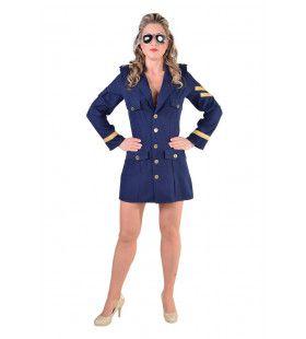 Juffrouw Zijwind Boeing Piloot Vrouw Kostuum