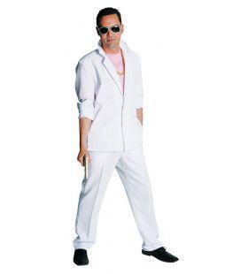 Wit Sonny Miami Vice Man Kostuum