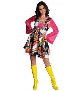 Jaren 60 Mode Hippie Jackie Vrouw Kostuum