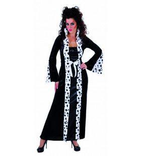 Dalmatier Dame Cruella Vrouw Kostuum