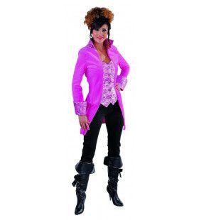 Mantel En Vest Gave Gravin Roze Vrouw