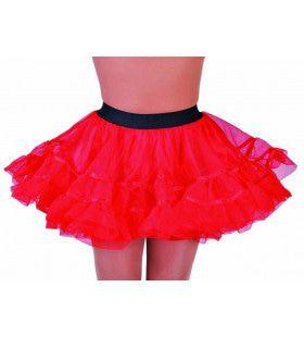 Rockabilly Petticoat Rood Vrouw