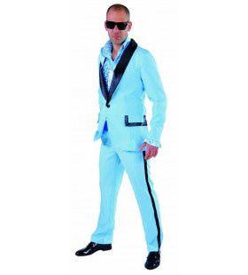Zwoele Zomeravonden Blauwe Smoking Man Kostuum