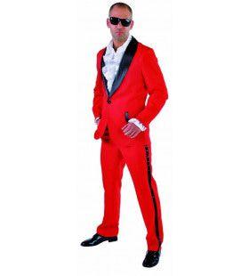 Smoking Hot Red Smoking Man Kostuum