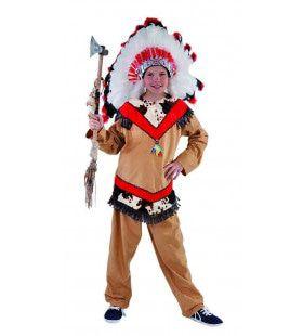 Dappere Strijder Mohave Indiaan Jongen Kostuum