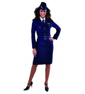 Raf Jaren 40 Luchtmacht Piloot Vrouw Kostuum
