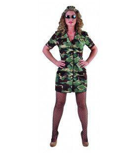 Oerwoud Camouflage Leger Uniform Jane Vrouw Kostuum